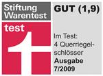 Test von 4 Panzerriegeln. Stiftung Warentest Testsieger ist Zeiss IKON!