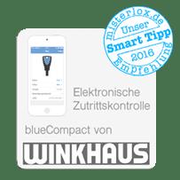 Die elektronische Schließanlage blueCompact von Winkhaus eigent sich hervorragend für Zutrittskontrolle.