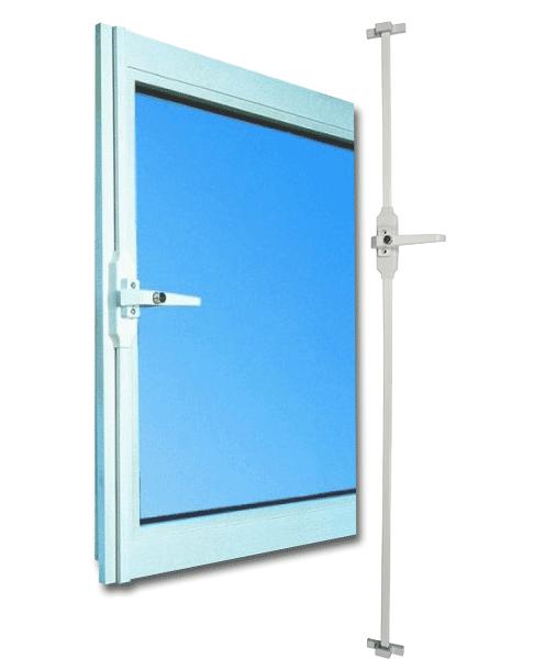 Fensterstangenverschluss von Zeiss IKON wurde von Stiftung Warentest mit GUT bewertet. Fensterstangenverschluss sichert das Fenster auf der Öffnungsseite gegen das Aufhebeln!
